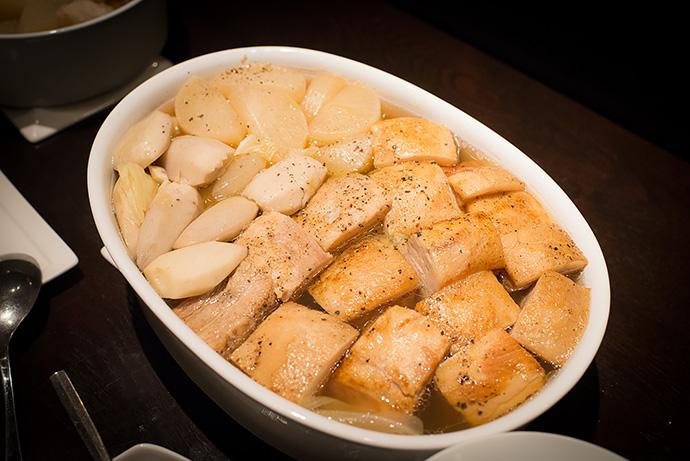 ありが豚バラ肉の軽い煮込みポトフ