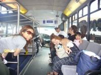 レンタカーのバス