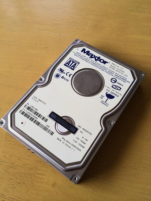 HDD本体の画像です