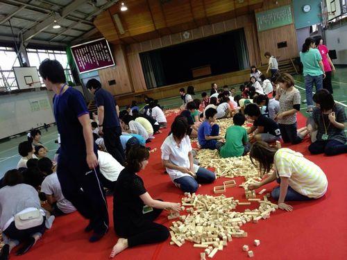 宮城県の変わった珍しいイベント1催し物万個積み木でコミュニケーション