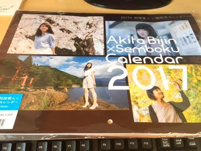 秋田美人秋田のモデル秋田の四季を感じる風景ご当地カレンダー2017年版旅行気分味わえるB4サイズデザインが良い