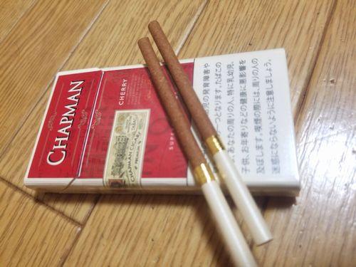 山梨県甲府市で売っているリトルシガーCHAPMANチャップマンスーパースリムフィルターが甘いタバコ