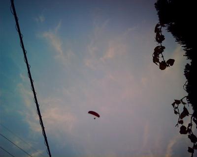 空中散歩。