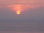 宿からの景色・朝日(6時前)