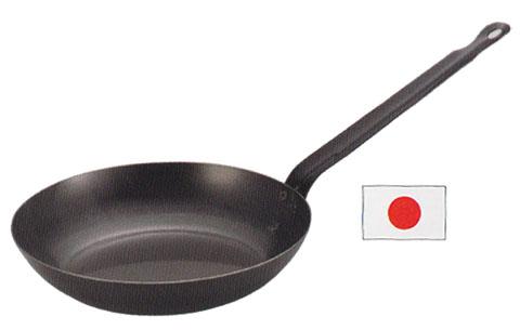 アカオアルミ黒皮鋼板フライパン