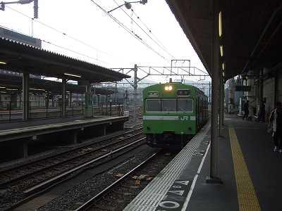奈良線到着