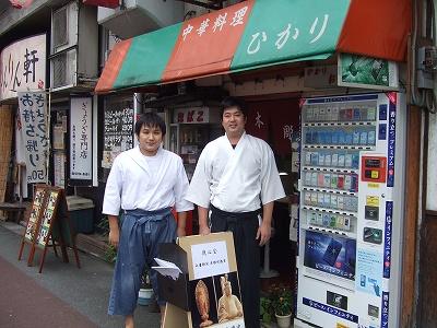佛師 紺野�慶氏(左)佛師 関 �雲氏(右)
