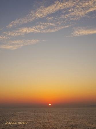 さつまから見た夕日2