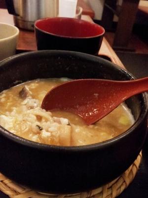 つけ麺のシメは雑炊♪