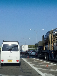 中国道の渋滞