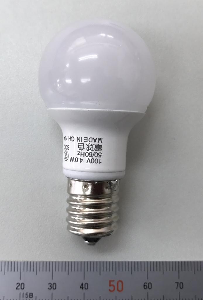 東芝製LEDのサイズ感