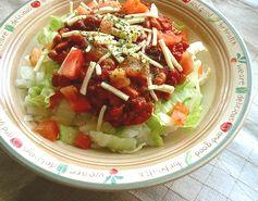 チリ納豆タコライス風