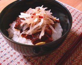 納豆とサンマの蒲焼丼