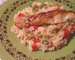 タイムと鯛とトマトの炊き込みご飯