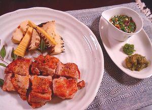鶏とタケノコ焼