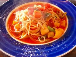 7種類の野菜のパスタ