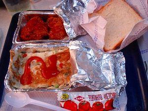 列車の朝食