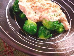 芽キャベツの豆腐胡麻ソース