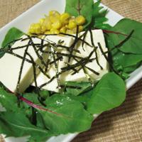 ベビーリーフと豆腐のサラダ