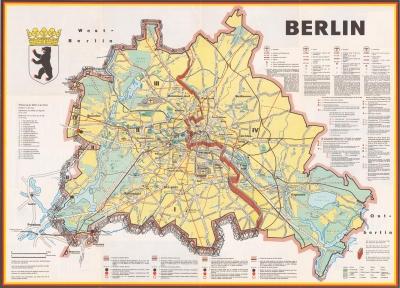 berlin wall map