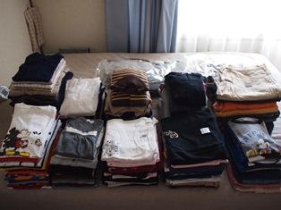 衣類の大処分
