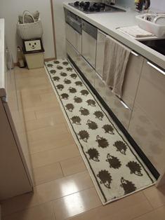 ハリネズミのキッチンマット