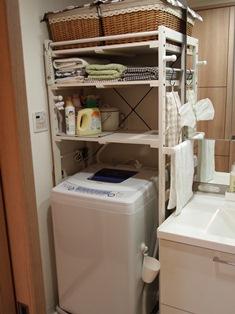 洗濯機上収納