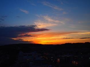 ベランダからの夕日