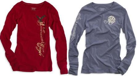 WOMENSアメリカンイーグルTシャツ2枚セット