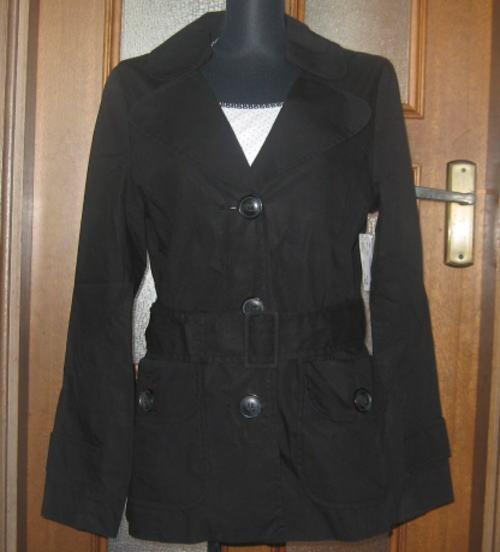 人気ブランド H&M ベルト付ジャケット ブラック