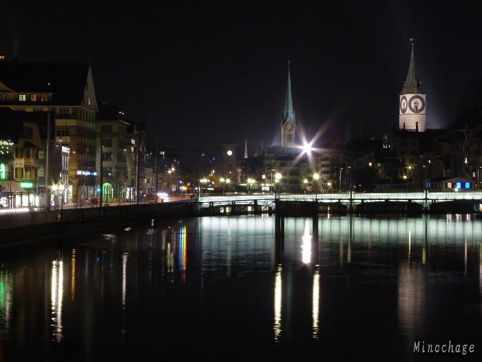 チューリッヒ夜景