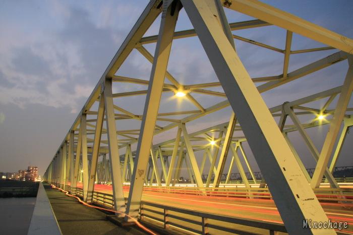 江戸川の市川橋を再度撮影