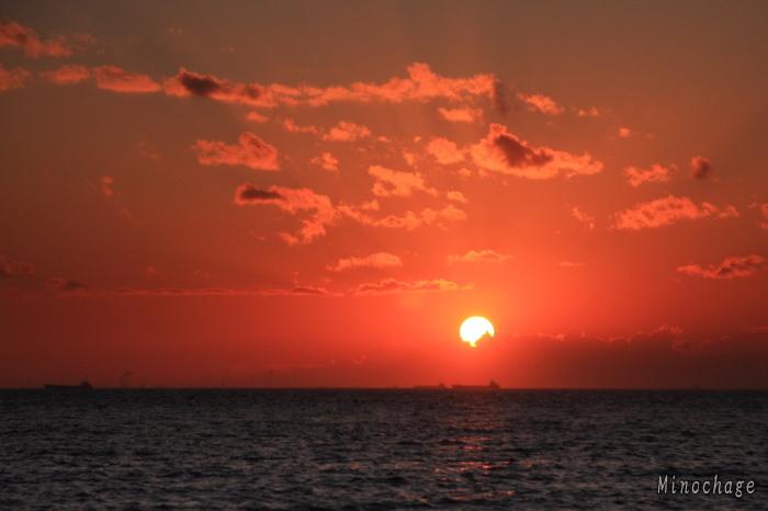 幕張の夕日