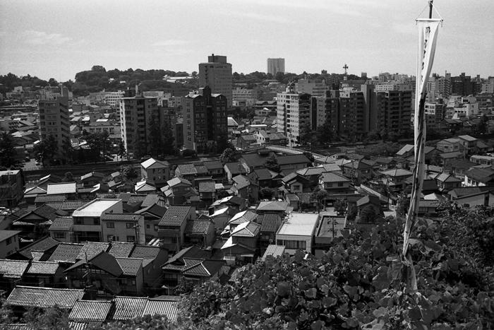 卯辰山から撮った東山界隈(石川県金沢市)