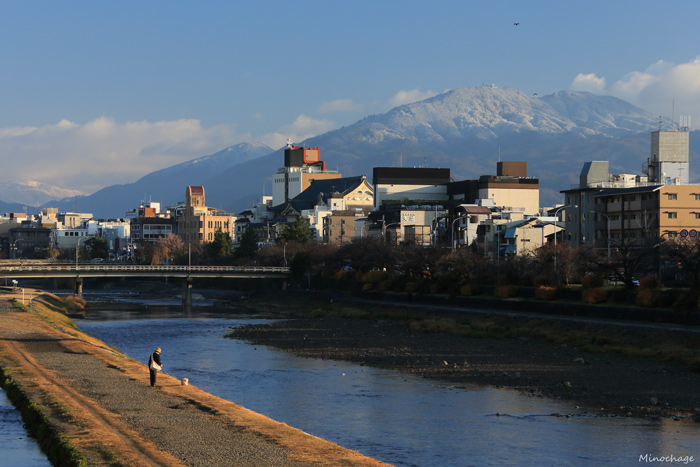 雪化粧した比叡山(1)