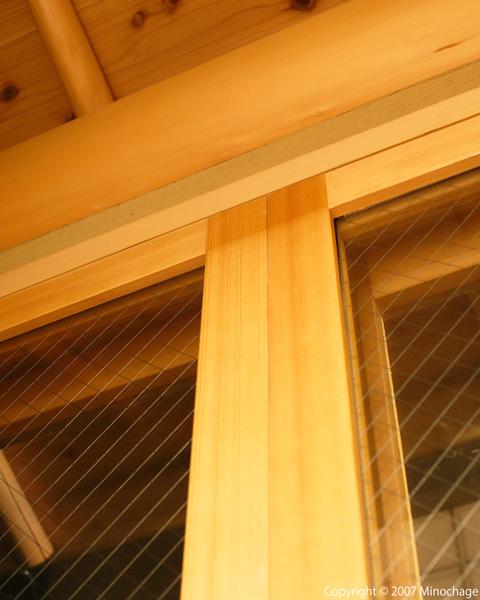 縁側の窓枠