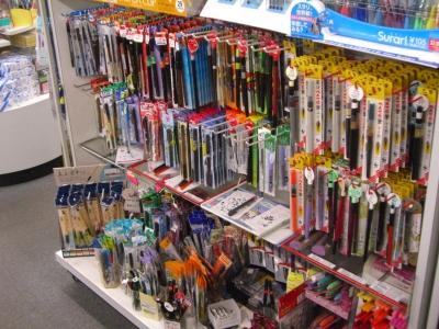 筆ペン売り場