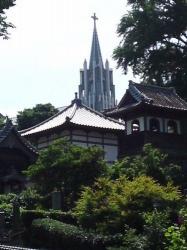 028寺院と教会のみえる風景