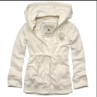 Abercrombie & Fitch 白パーカー