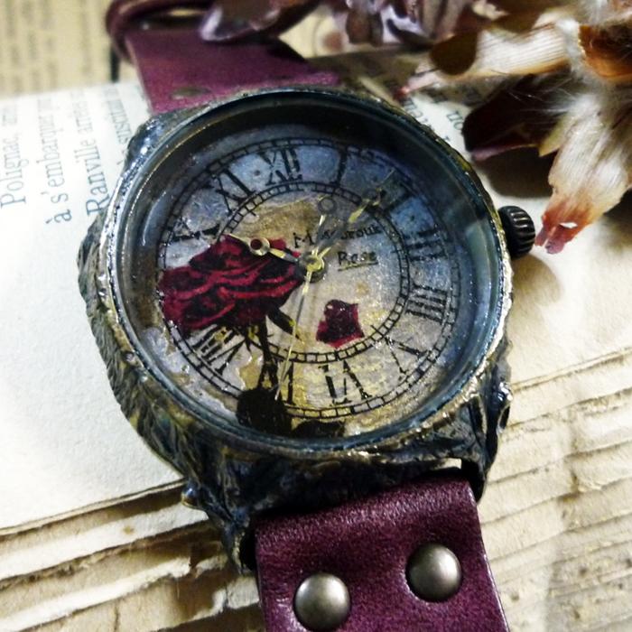 花 腕時計 バラ