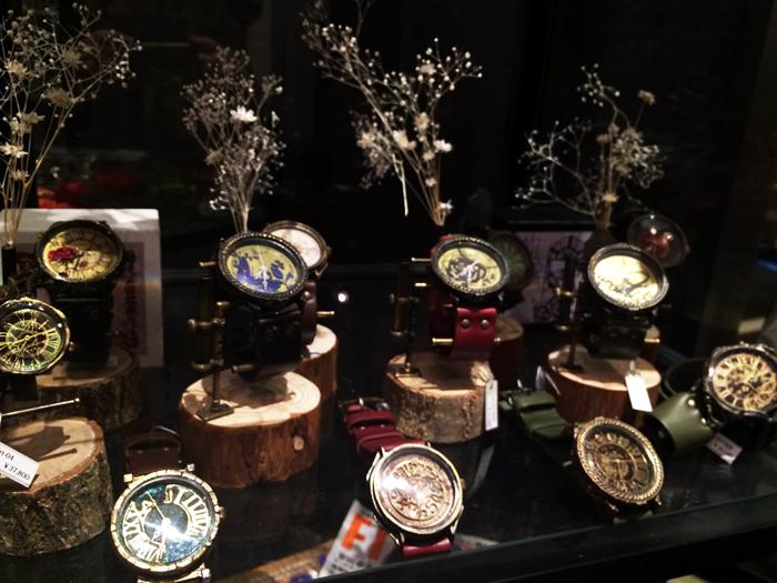 原宿 手作り腕時計
