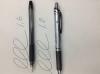 1.6mmのボールペンとゲルインキボールペン1mmの比較