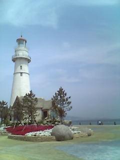 公園の灯台