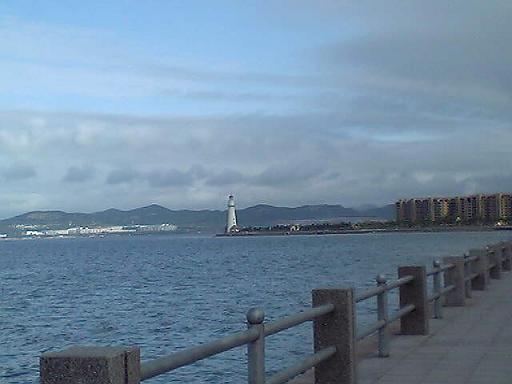 威海公園から見た悦海公園