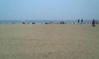 青島のビーチ