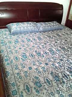 新疆で買ったベッドシーツ