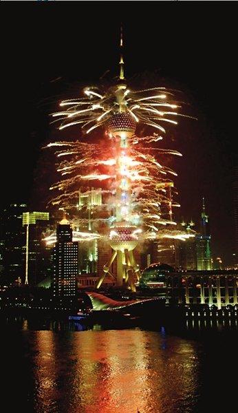 上海万博の花火