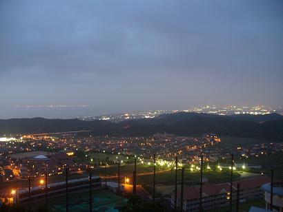 展望台手前からの夜景