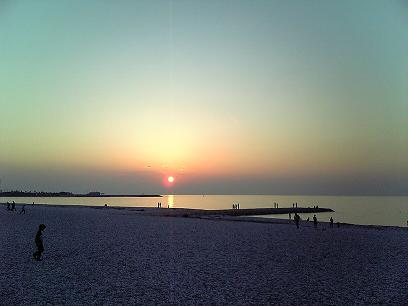 マーブルビーチの夕陽