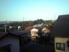 自宅の窓から撮影